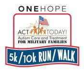 8th Annual ONEHOPE ACT Today for Military Families 5k/10k Run/Walk & Family Festival registration logo