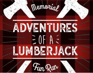 Adventures of a Lumberjack Memorial Fun Run registration logo
