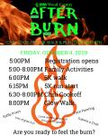 After Burn 5k Run/ 1k Walk registration logo