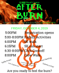 After Burn 5k Run/ 1k Walk registration logo