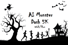 AI Monster Dash 5K registration logo