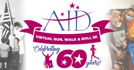 AID Virtual Run, Walk & Roll 5K registration logo