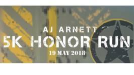 AJ Arnett 5K Honor Run registration logo