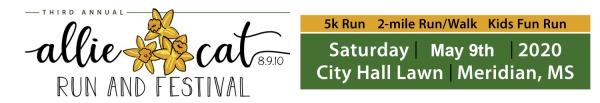 Allie Cat Run & Festival registration logo