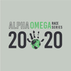 Alpha Omega Race Series-Adoption by Running registration logo