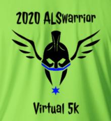 ALSwarrior Virtual 5k Fundraiser registration logo