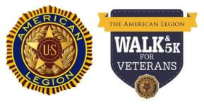 American Legion Walk and 5K for Veterans registration logo