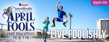 AmeriHealth NJ April Fools Half Marathon registration logo
