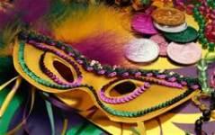 Angleton Mardi Gras 5k registration logo