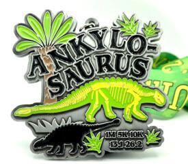 Ankylosaurus 1M 5K 10K 13.1 26.2 registration logo
