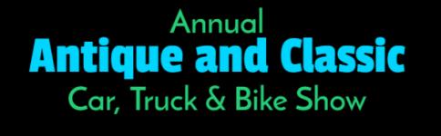 Annual Antique and Classic Car Truck Bike Show registration logo