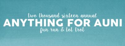Annual Anything For Auni 5K registration logo