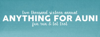 Annual Anything For Auni 5K registration logo