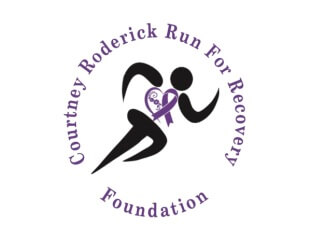 Annual Courtney Roderick Run for Recovery registration logo