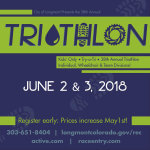 Annual Longmont Triathlon registration logo