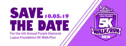 Annual Purple Diamond Lupus Foundation 5K Walk/Run registration logo