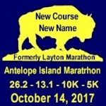 Antelope Island Half Marathon 10K 5K registration logo