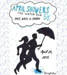 April Showers 'THE RAIN RUN' registration logo