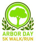 Arbor Day 5K registration logo