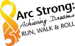 Arc Strong Achieving Dreams 5K Run, Walk & Roll registration logo