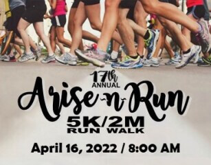 Arise-N-Run 5k & 2 Mile Walk registration logo