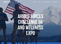 Armed Forces Challenge 5k registration logo
