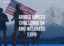 Armed Forces Challenge 5k registration logo