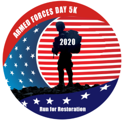 Armed Forces Day 5K- Run for Restoration registration logo
