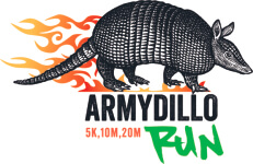 Army-Dillo 5k / 10 Miler & 20 Miler  registration logo