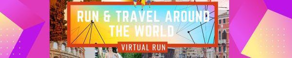 Around the World Virtual Race registration logo