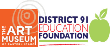 Art Museum of Eastern Idaho and D91 Education Foundation - The HeART of Idaho Century Ride Aug. 17th registration logo