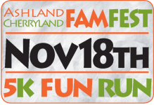 Ashland Cherryland FamFest 5K Fun Run  registration logo