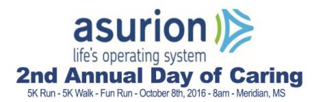 Asurion Day of Caring 5K registration logo