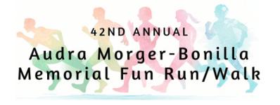 Audra Morger-Bonilla Memorial Fun Run/Walk registration logo