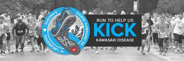 Aurora's Kickin' Kawasaki 5k - Davenport, Iowa registration logo