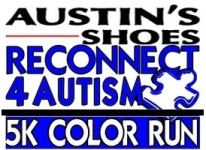 AUSTIN'S SHOES RECONNECT 4 AUTISM COLOR RUN registration logo