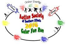Autism Color Fun Run/Walk registration logo
