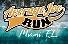 Average Joe Run 5k - Key Biscayne, FL 'The World's Easiest 5k' registration logo