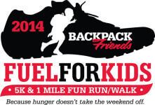 Backpack Friends 5K and 1Mile Fun Run registration logo