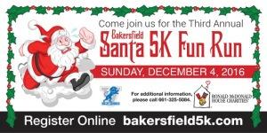 Bakersfield 5K Santa Fun Run registration logo