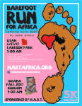 Barefoot Run For Africa registration logo