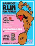 Barefoot Run For Africa registration logo