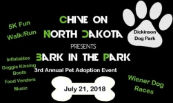 Bark in the Park 5k registration logo