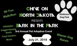 Bark in the Park 5k registration logo