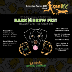 Bark N Brew Canicross run/walk registration logo