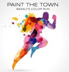 Basalt's Color Run - Paint the Town registration logo