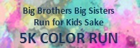 BBBS Run For Kids Sake 5K Color Run registration logo