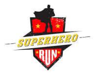 Be a SUPERHERO Run for a Cause. Wellness Wagon 5k registration logo