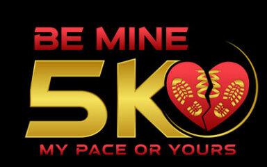 Be Mine 5K - Live and Virtual registration logo