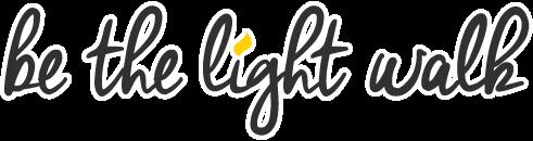 BE THE LIGHT WALK registration logo